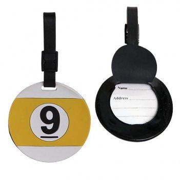 Бирка bk1015 именная (шар девятка), резиновая