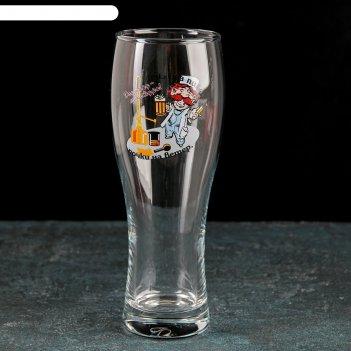 Бокал для пива «паб приколисты», 500 мл, рисунок микс