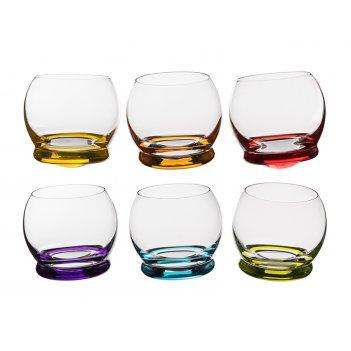 Набор стаканов из 6 шт. crazy 390 мл. высота=9 см.