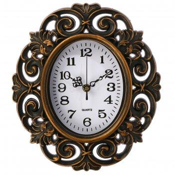 Часы настенные, серия: интерьер, трейси коричневые, 25х28 см