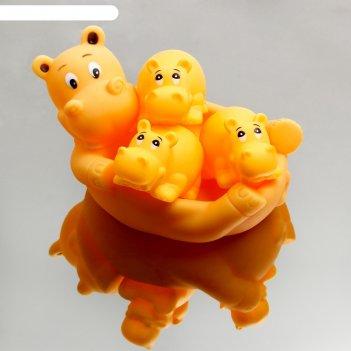 Набор для игры в ванне «бегемотики»: мыльница, игрушки 3 шт.