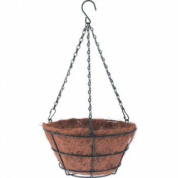 Кашпо подвесное ротанг, полукруг d 30 см palisad