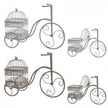 Декоративное изделие клетка-велосипед, l46 w27 h31 см, 2в
