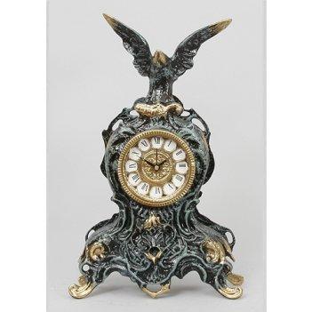 Часы из бронзы с орлом virtus синий 35х21см 5728