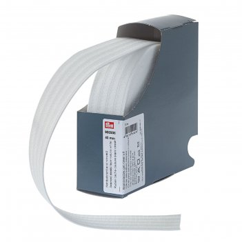Эластичная лента для уплотнения шва 40 мм 10м, цвет белый
