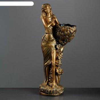 Садовая фигура лесная фея 85см бронза