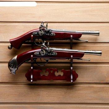 Сувенирное изделие настольное серия ретро, 2шт, пистолет-мушкетон 27*39см