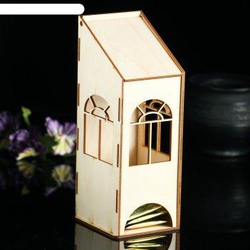Заготовка для декупажа чайный домик с пологой крышей 9 х 8 х 23 см