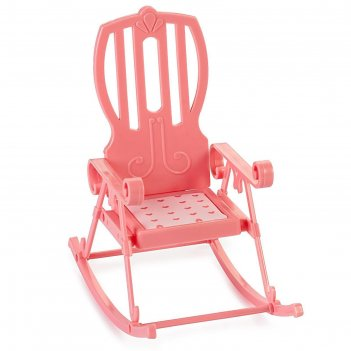 Кресло-качалка маленькая принцесса, цвет нежно-розовый с-1514