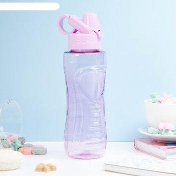 Бутылка для воды баунаталь 600 мл, с кольцом, микс, 8х23 см