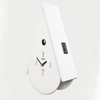 Настенные часы с кукушкой sinix 502 w