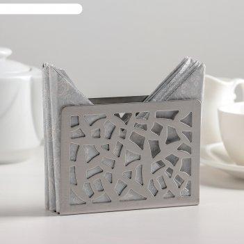 Салфетница иллюзия, нержавеющая сталь