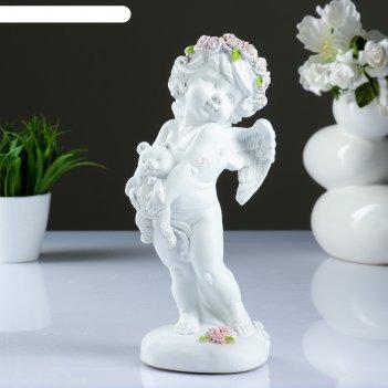 Фигура ангел с медвежонком 30х14х12см