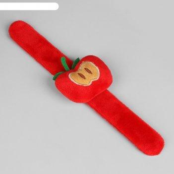 Игольница на браслете яблоко, цвет красный