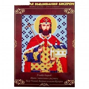 Вышивка бисером святой стефан (степан), размер основы 21,5*29 см