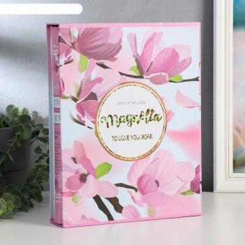 Фотоальбом на 200 фото 13х18 см тюльпаны/шиповник в коробке микс 29,5х23х5