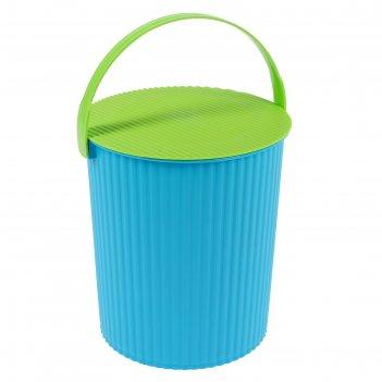 Ведро-стул 7 л solano, цвет лазурный лайм