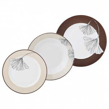 Набор тарелок на 6 персон 18 пр. диаметр=27/19/20 см (кор=2набор.)