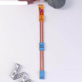 Спицы вязальные с измер шкалой металл 3,5мм*35см (набор 2шт цена за набор)