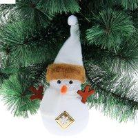 Игрушка световая снеговик со снежинкой 12х25 см, 1 led rgb, бежевый