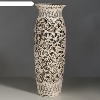 Ваза напольная форма луиза резка шамот