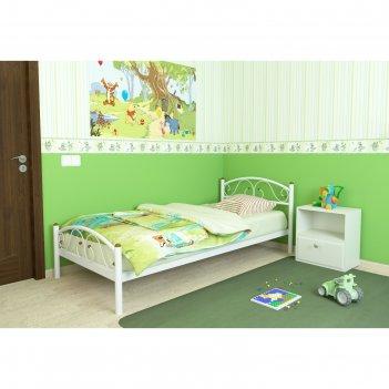Кровать «вероника мини плюс», 190 x 80 cм, каркас белый