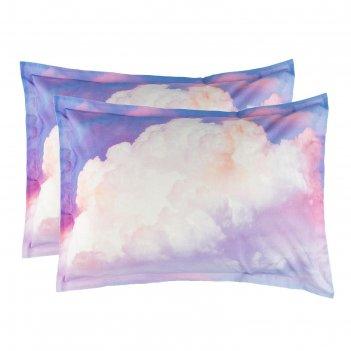 Комплект наволочек этель воздушные сны 50*70+3 см - 2 шт, поплин