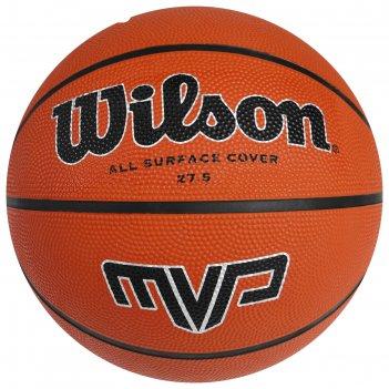 Мяч баскетбольный wilson mvp, арт.wtb1417xb05, р.5, резина, коричневый