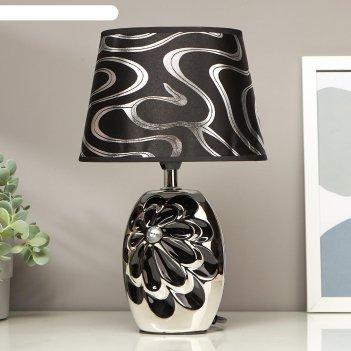 Лампа настольная цветущий пион