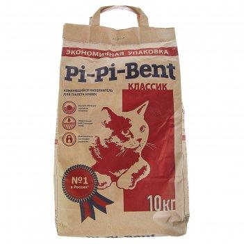Наполнитель минеральный комкующийся pi-pi-bent classic 10 кг