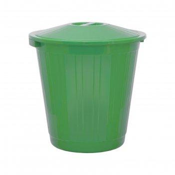 Бак с крышкой 70л зеленый