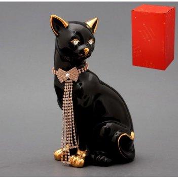 Фигурка кошка с цепочкой высота=25 см