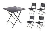 Набор мебели для дачи и отдыха (стол 63х63х71 см, 4 стула 56х45х80 см)