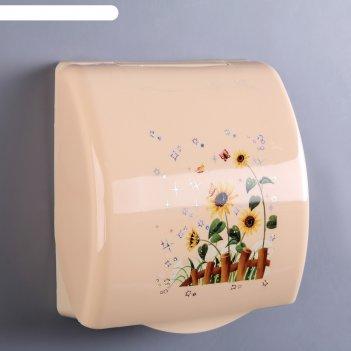 Держатель для туалетной бумаги модерн, цвета микс