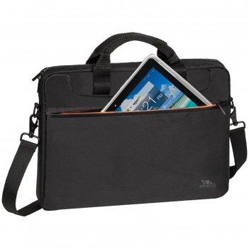 Сумка для ноутбука 15,6 rivacase 8033 38,5*27*4,5 см, полиэстер, чёрный