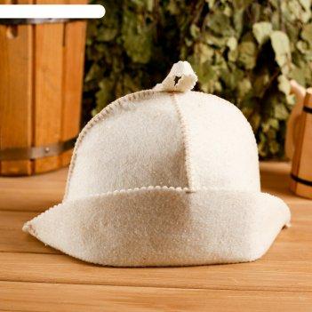 Колпак для бани  шапка банщик белая