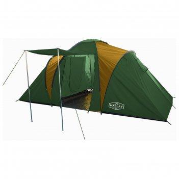 Палатка туристическая mirage 440х215х180 см, 4-х местная, цвет зеленый