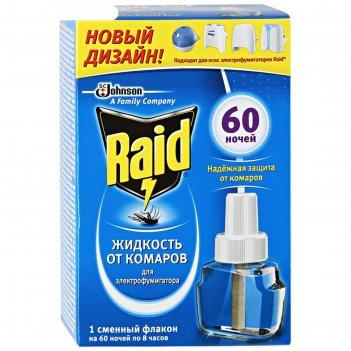 Жидкость для фумигатора raid, 60 ночей, 43, 8 мл