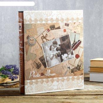 Фотоальбом на 400 фото 10х15 см письма в коробке, с сер.обводкой микс 33,5