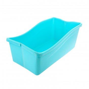 Ванночка детская складная, со сливом, цвет голубой