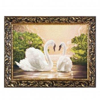 Гобеленовая картина лебединое ухаживание
