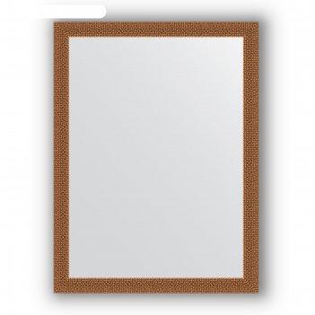 Зеркало в багетной раме - мозаика медь 46 мм, 61 х 81 см, evoform