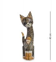 35-032 статуэтка кошка 40см (албезия, о.бали)
