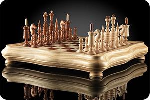 Шахматы барлейкорн светлая доска 45х45см