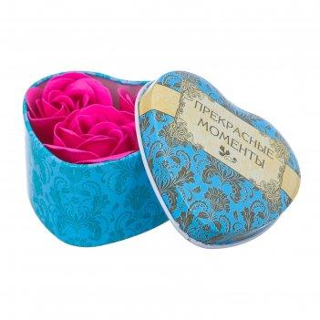 Набор мыльные лепестки 3 шт. в шкатулке-сердце прекрасные моменты