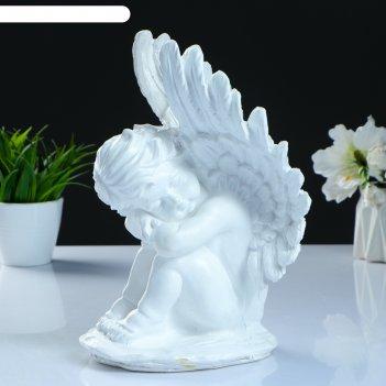 Фигура ангел средний с крыльями 30см белый