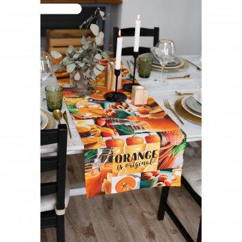 Дорожка на стол этель orange 40х146 см, 100% хл, саржа 190 гр/м2