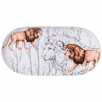 Блюдо lefard animal world лев овальное 20,5 см (кор=60шт.)