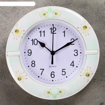 Часы настенные, серия: классика, цинния, d=19см,  микс