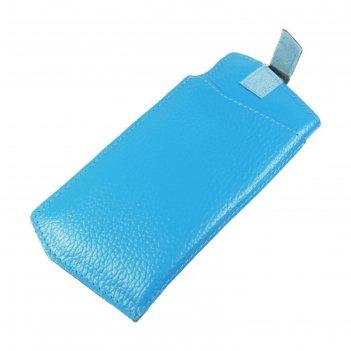 Футляр для очков на липучке, цвет голубой